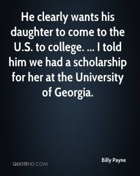 He clearly wants his daughter to come to the U.S. to college. ... I ...