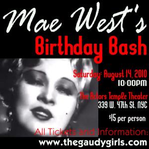 Metropolitian Sextette Seduces Again at Mae West Birthday in August