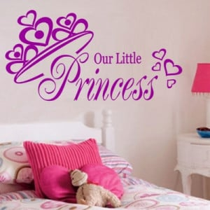 ... Little Princess Quote Wall Art Sticker - Large (Our Little Princess