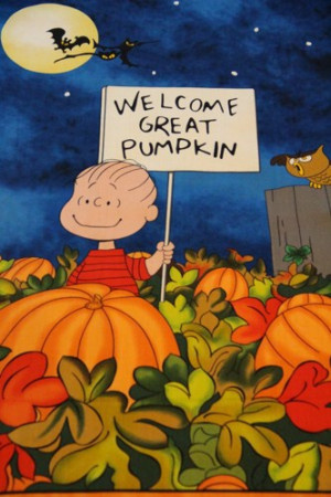 Photo Halloween Quotes The Great Pumpkin Charlie Brown
