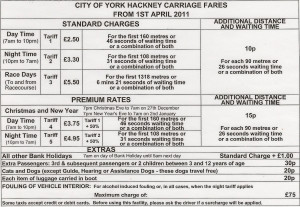 Our fare tariff is approved and aligned by City of York Council ...