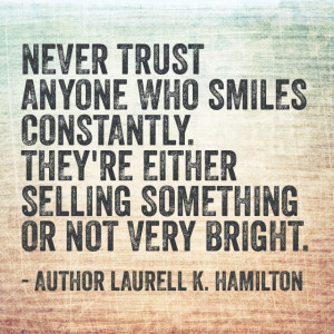 Laurell K Hamilton - Quote definitely a fangirl of anita blake :).