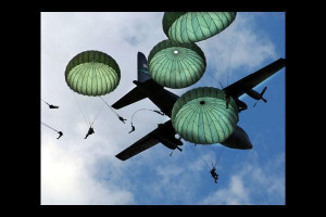 Drawing of Paratrooper