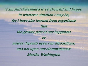 am still determined to be cheerful and happy happiness quote