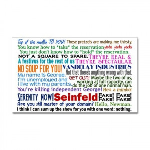 Seinfeld Quotes Decal on