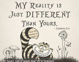 ... Cheshire Cat Quote Print #8, Wall Decor, Typography, Quote Print, Gift