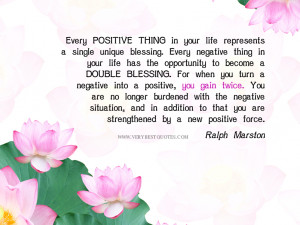 Positive quotes: Turn a negative into a positive