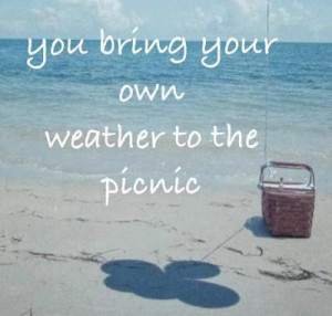 You bring your own weather to the picnic..