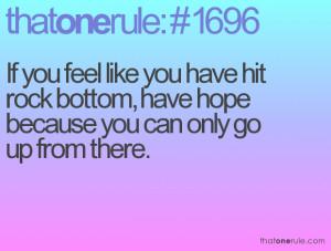 Hitting Rock Bottom Quotes