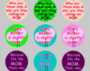 ... Mom Mother Funny Sayings Super Mom Supermom with Automatic Digital