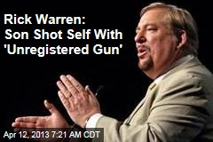 rick warren tweets about unregistered gun forgiveness