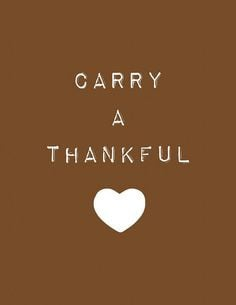 Thanksgiving Quote | Carry a Thankful Heart | #quotes #thanksgiving # ...