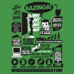 TShirtGifter presents: Sheldon Cooper Quotes