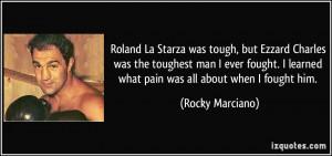 Roland La Starza was tough, but Ezzard Charles was the toughest man I ...