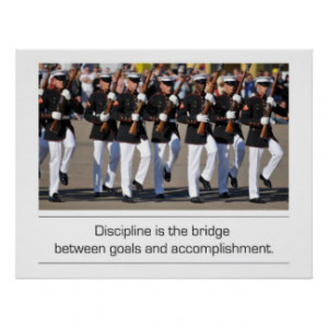 Silent Drill Team and Discipline quote Print
