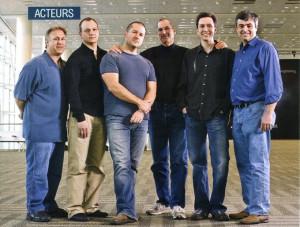 Phil Schiller, Tony Fadell, Jony Ive, Steve Jobs, Scott Forstall and ...