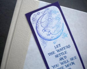 CELESTIAL REFLECTION - Bookmark wit h quote by Rumi ...