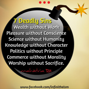 Deadly Sins! #Quotes #infinitheism