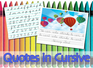 Quotes in Cursive #4: The D'Nealian Script Alphabet, 3-Lined Paper ...
