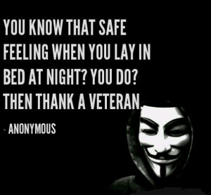 Thank a veteran.