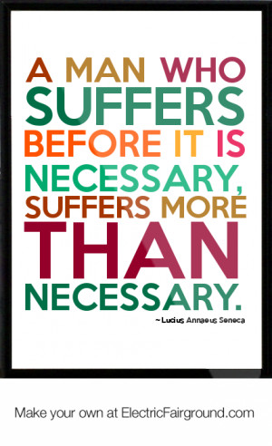Lucius Annaeus Seneca Framed Quote