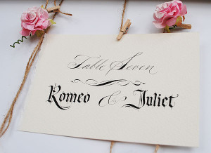 ... calligraphy: romantic and gothic styles. www.Calligraphy-for-Weddings