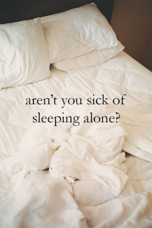 Images for sleeping alone quotes
