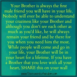 To my Brothers ... Love you both