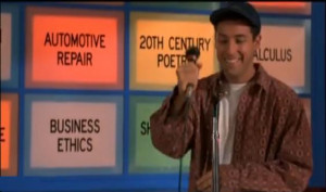 ... Billy Madison (Adam Sadler) in the motion picture Billy Madison (1995