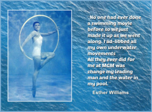 Esther Williams, a teenage swimming champion who became an enormous ...