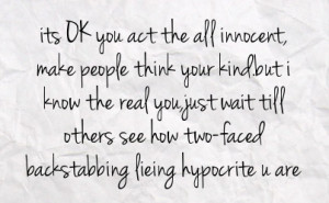 Two-Faced People Quotes