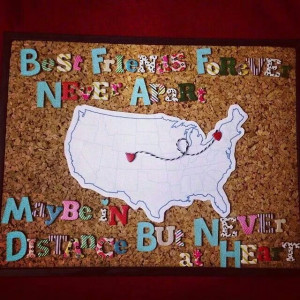 ... Michaels #crafts #gift #bestfriends #moving #quotes #hearts #map