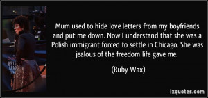 More Ruby Wax Quotes