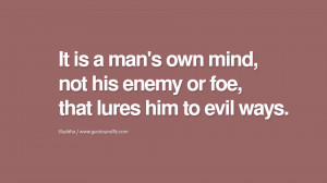 ... , that lures him to evil ways. anger management buddha buddhism quote