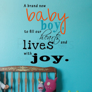 Removable Wall Decal - A Brand New Baby Boy-Vinyl Words and Letters ...