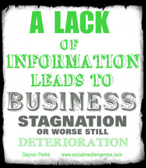 Do not let your lack of information harm the growth of your business ...