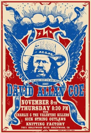 Discussions → David Allan Coe @ Knitting Factory Hollywood 11/8
