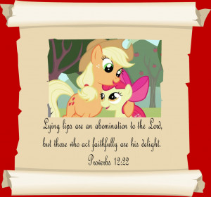 MLP Christian quotes. Applejack by GennadyKalugina