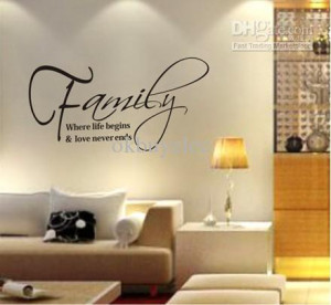 ... quote vinyl family family wall decals quotes home wall stickers family
