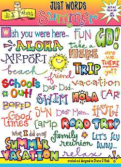 art, vacation clip art, summer images, summer designs, summer words ...