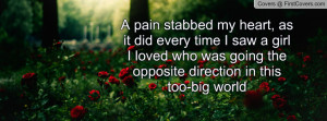 pain stabbed my heart, as it did every time I saw a girl I loved who ...