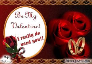 Valentines day message Valentines Poem orizanet Portal Valentine Card ...