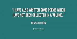 have also written some poems which have not been collected in a