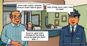 Ek admi police se bola kuch der pehle mera watch, mobile hijack ho ...