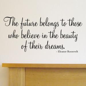 The future belongs' quote wall sticker - WA501X