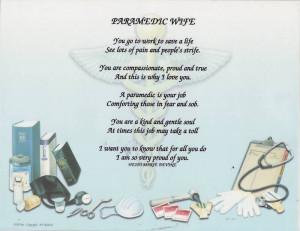 PARAMEDIC Poem Prayer Personalized Name Print EMS EMT