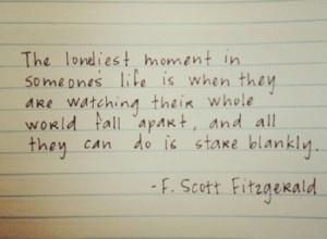 Scott Fitzgerald Quote #Life, #Moment