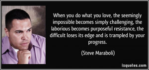 , the seemingly impossible becomes simply challenging, the laborious ...