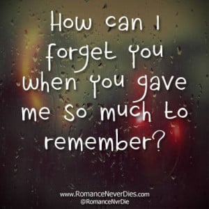 How Can I Forget You Quotes - http://www.romanceneverdies.com/how-can ...