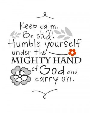 be calm carry on